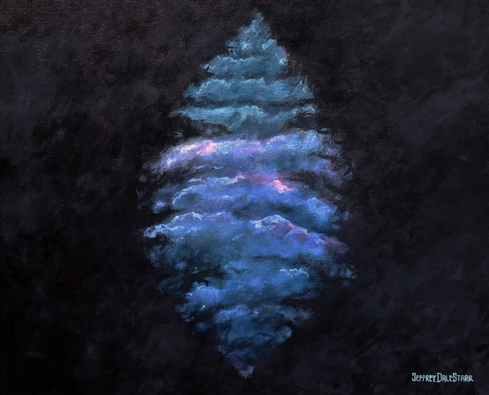 20181111 oil painting of puccini la boheme act I si mi chiamano mimi by american artist jeffrey dale starr