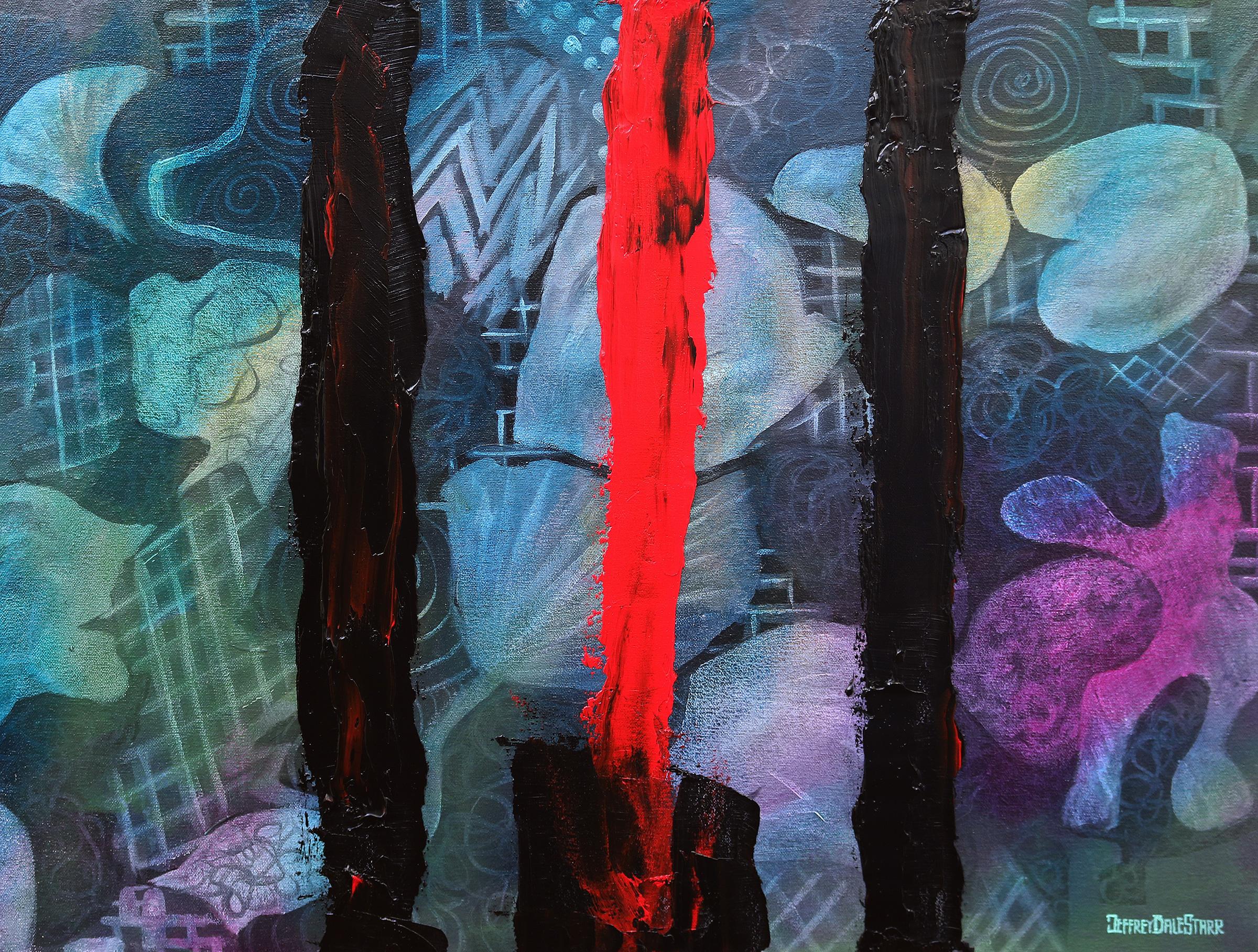 oil painting of muse hysteria matt bellamy by american artist jeffrey dale starr