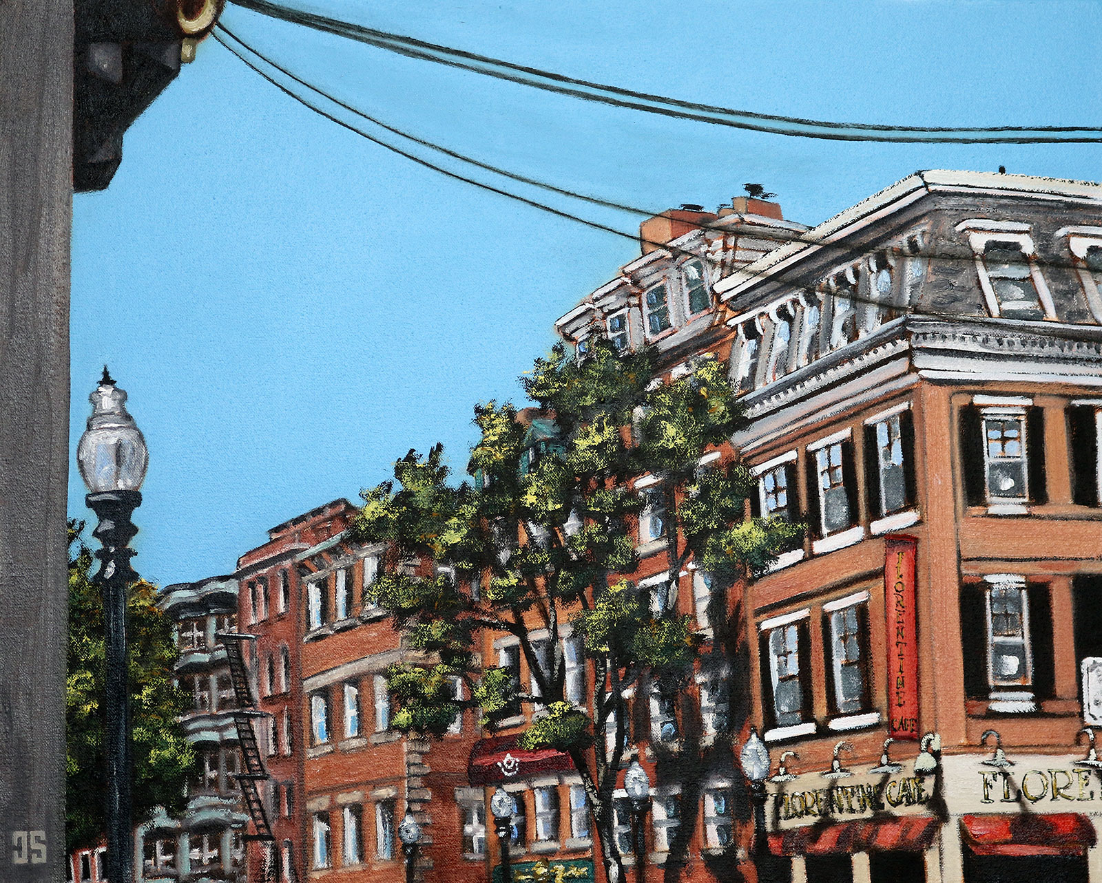 "Oil painting ""Little Italy, Boston"" by Jeffrey Dale Starr"