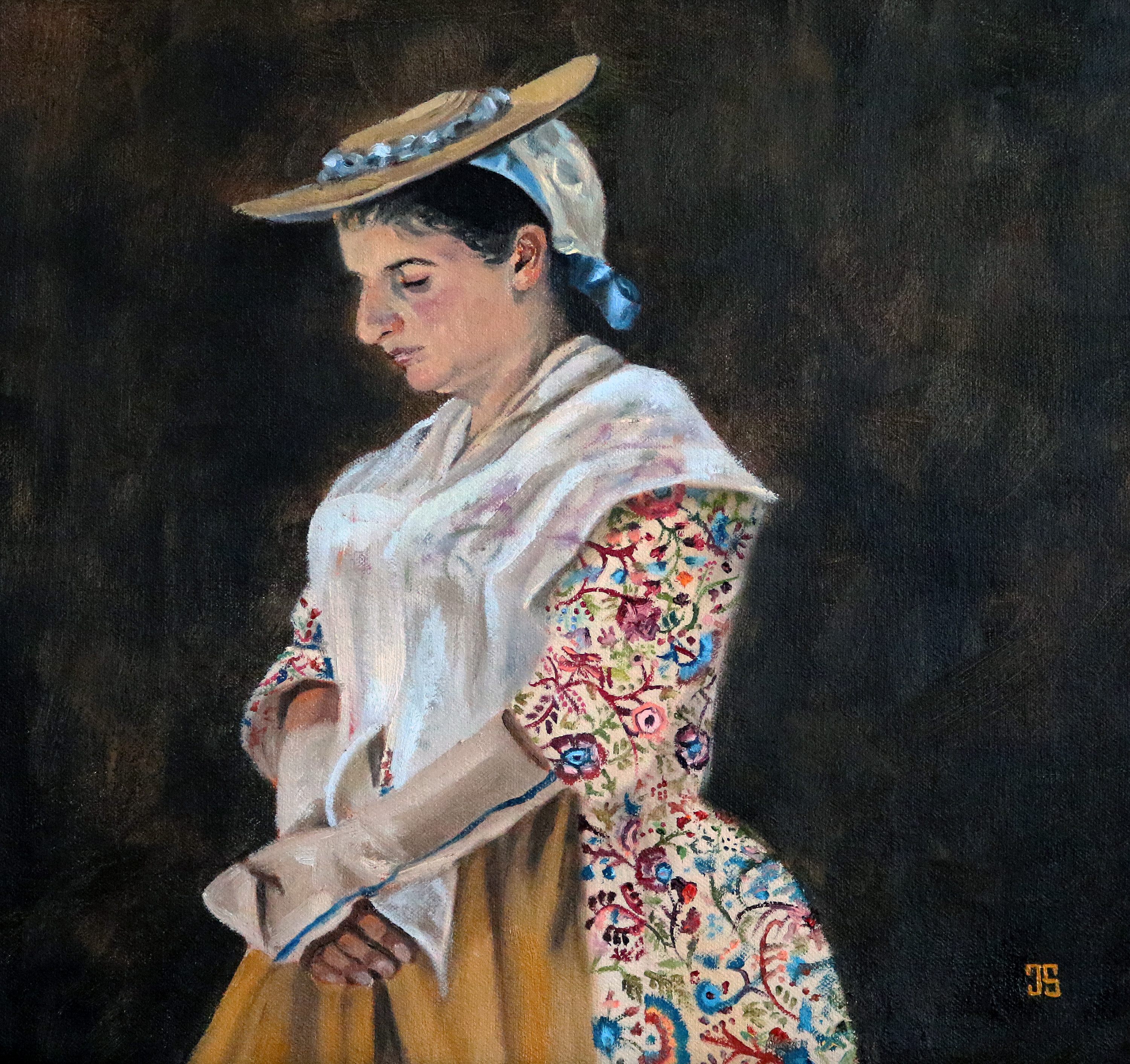 Oil painting of The Matriarch The Colonists by Jeffrey Dale Starr