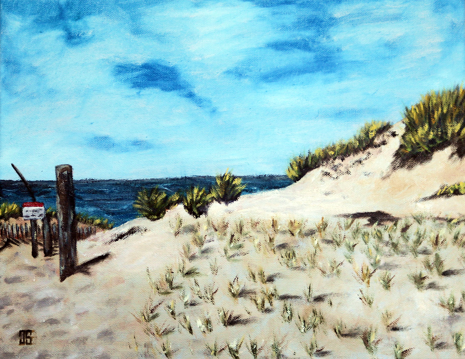oil painting of race point beach in provincetown on cape cod by american artist jeffrey dale starr
