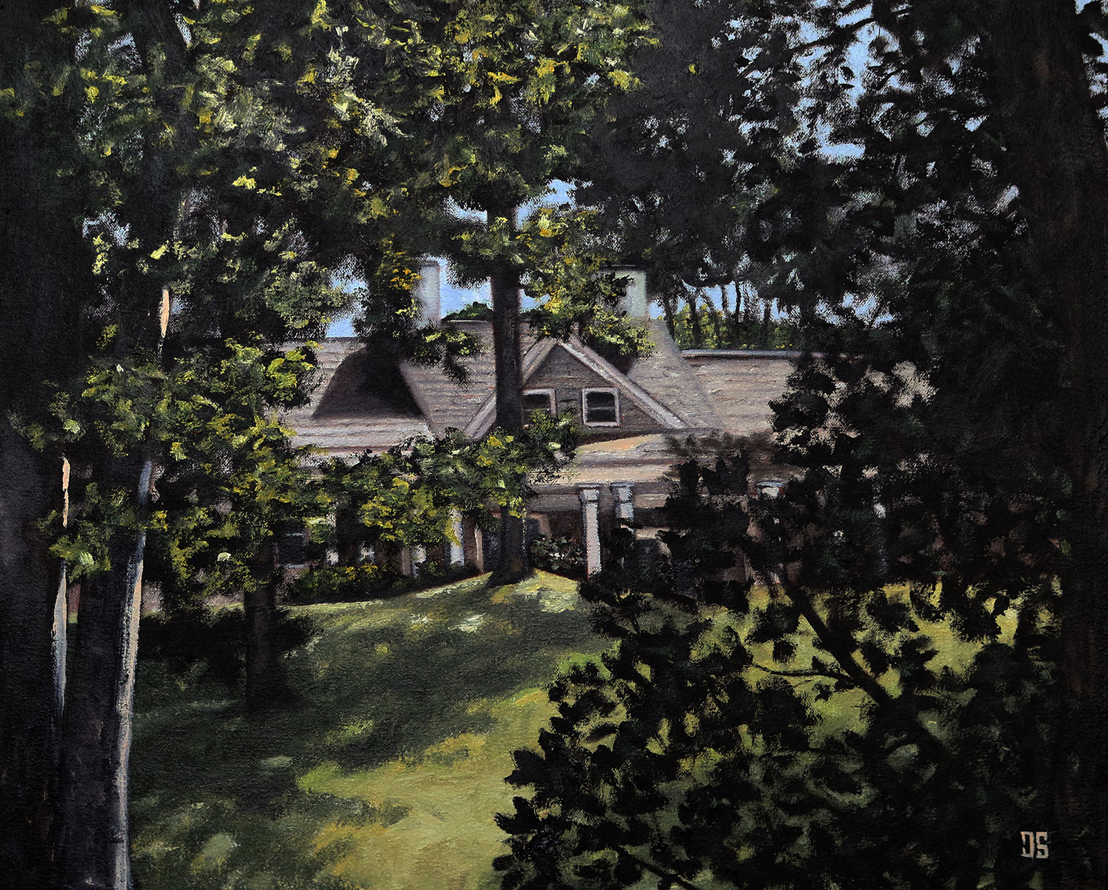 "Oil painting ""The Pogorelc Residence"" by Jeffrey Dale Starr"