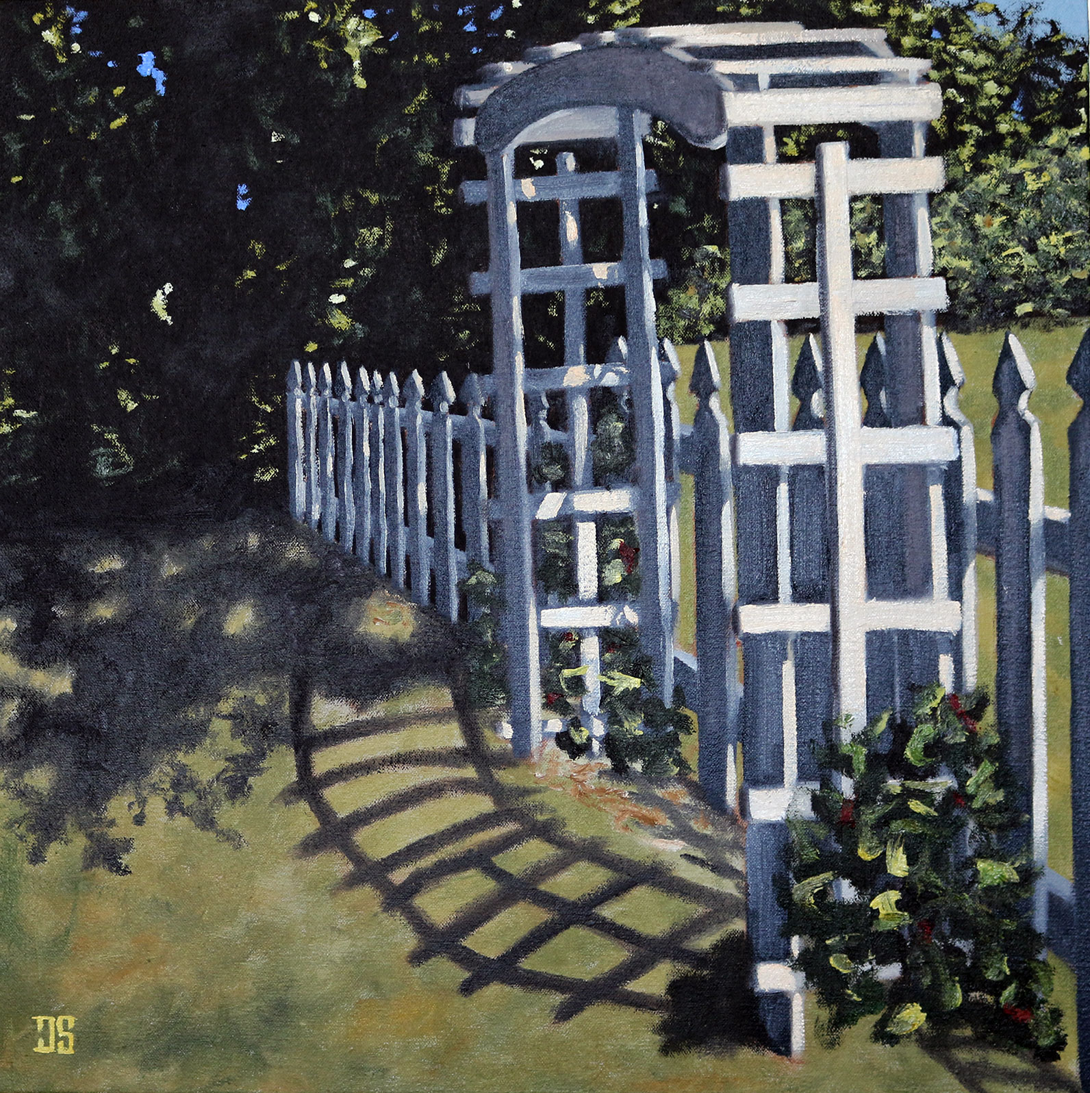 Oil Painting of the Side Gate Greets the Sunrise on Cape Cod MA by Jeffrey Dale Starr