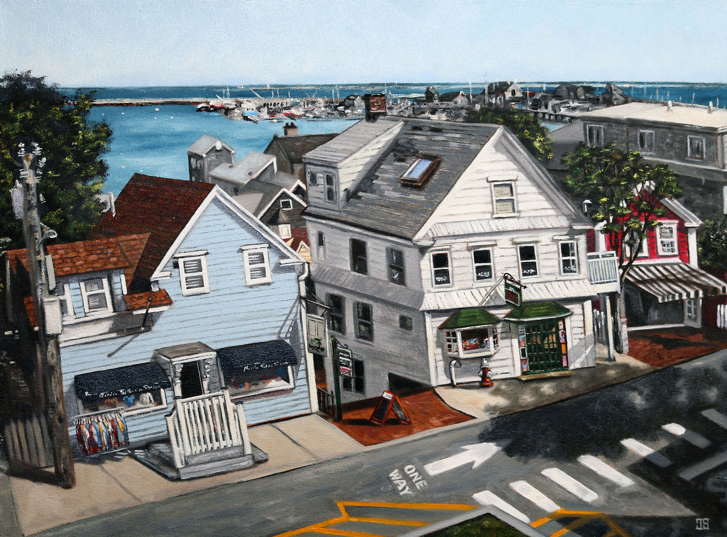 "Oil painting ""View from Provincetown Library"" by Jeffrey Dale Starr"