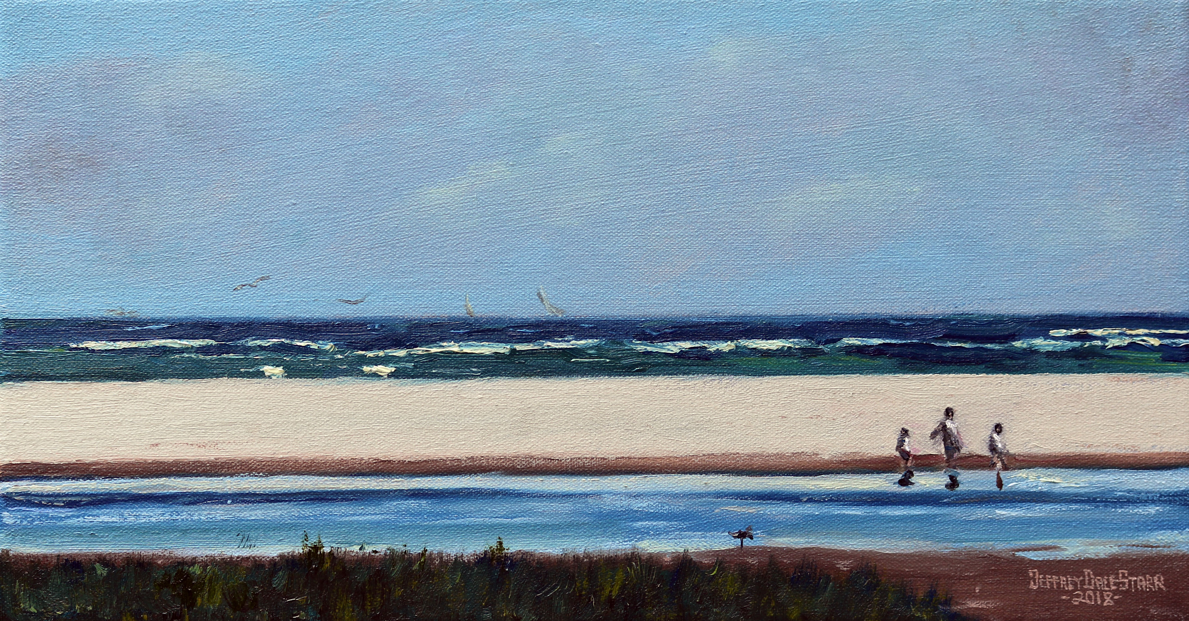 oil painting of breezy afternoon on cape cod by Jeffrey Dale Starr