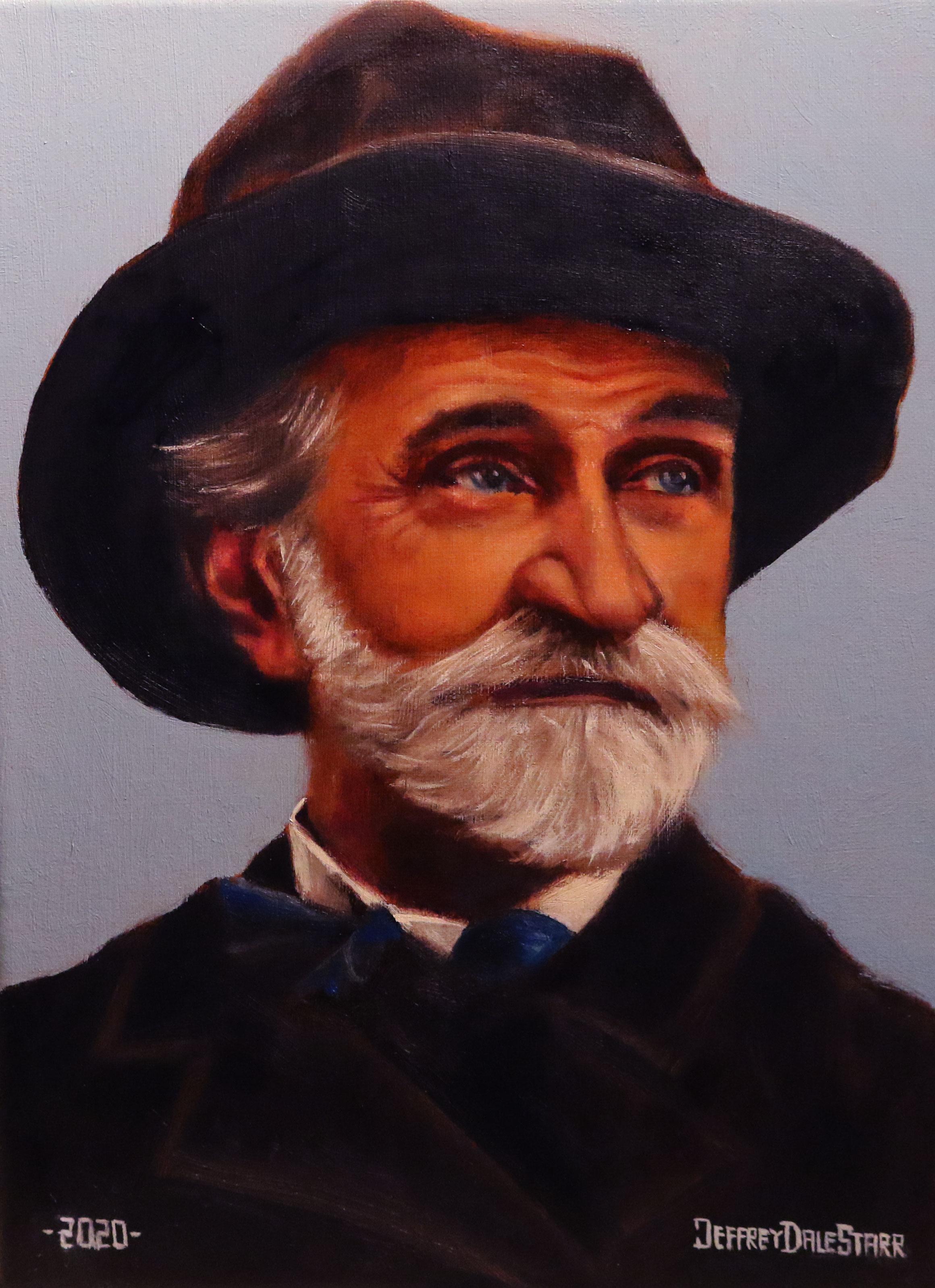 oil painting of giuseppe verdi opera italy by american artist jeffrey dale starr