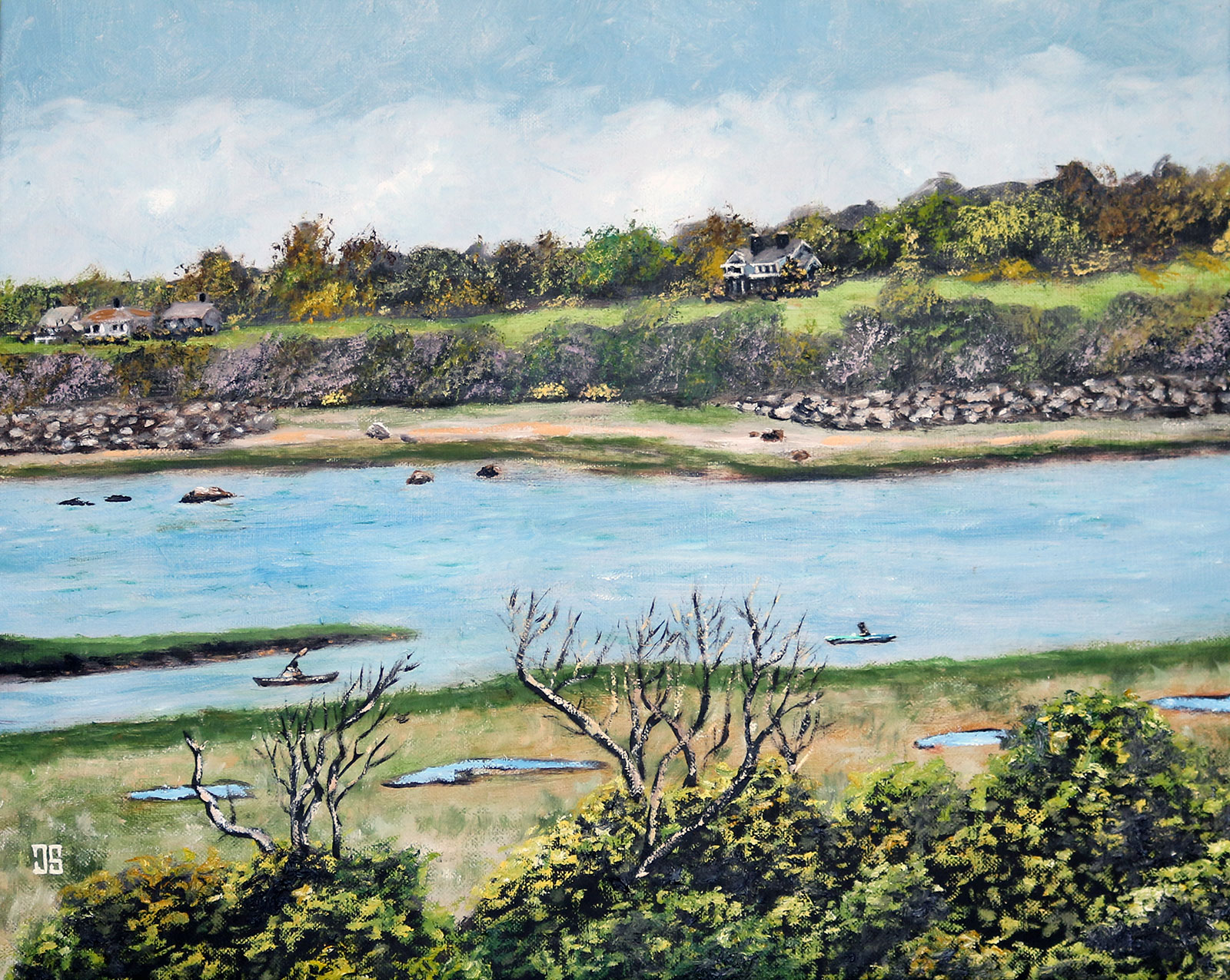 Kayakers in Eastham by Jeffrey Dale Starr