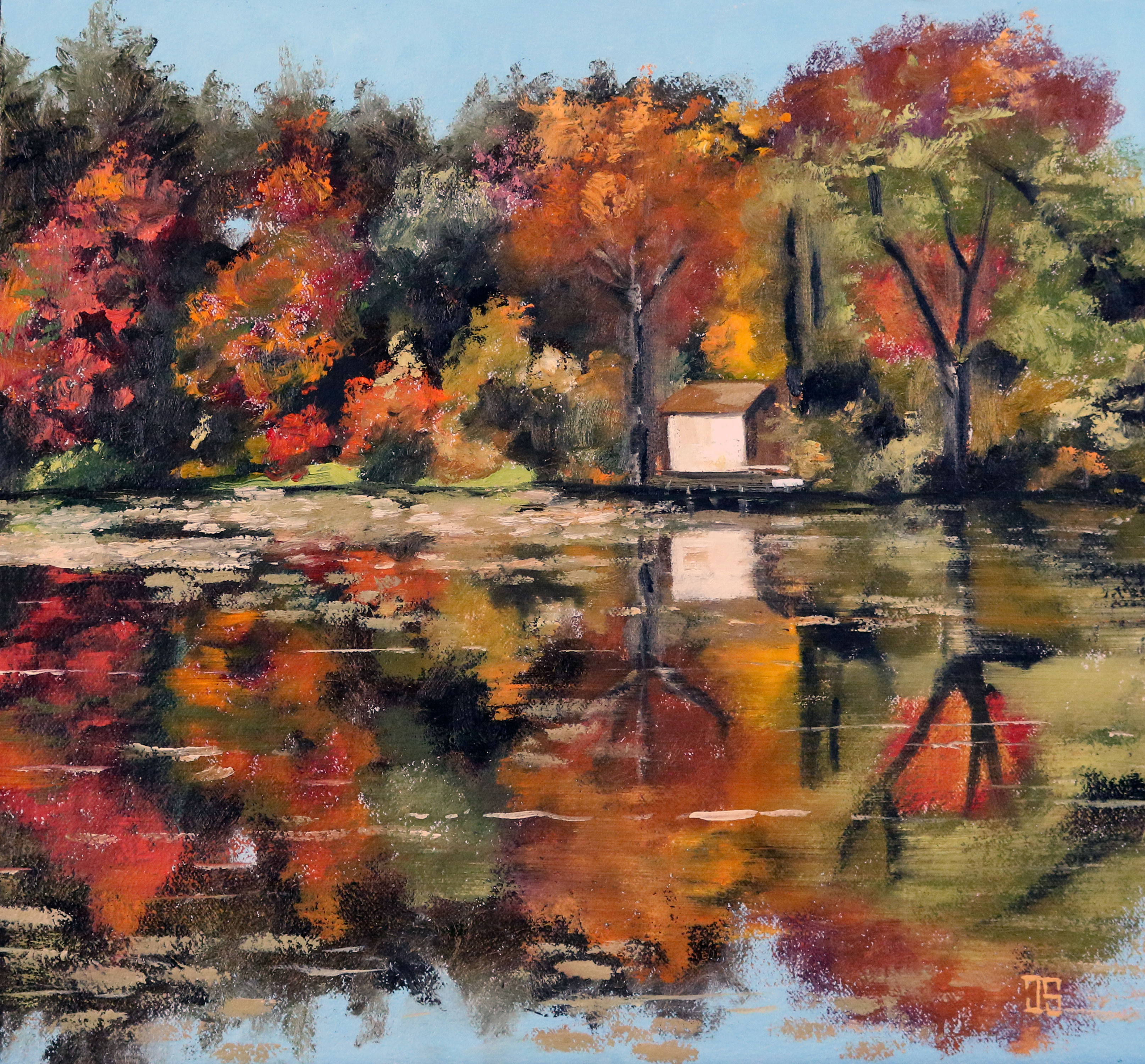 "Oil painting ""Lake House"" by Jeffrey Dale Starr"