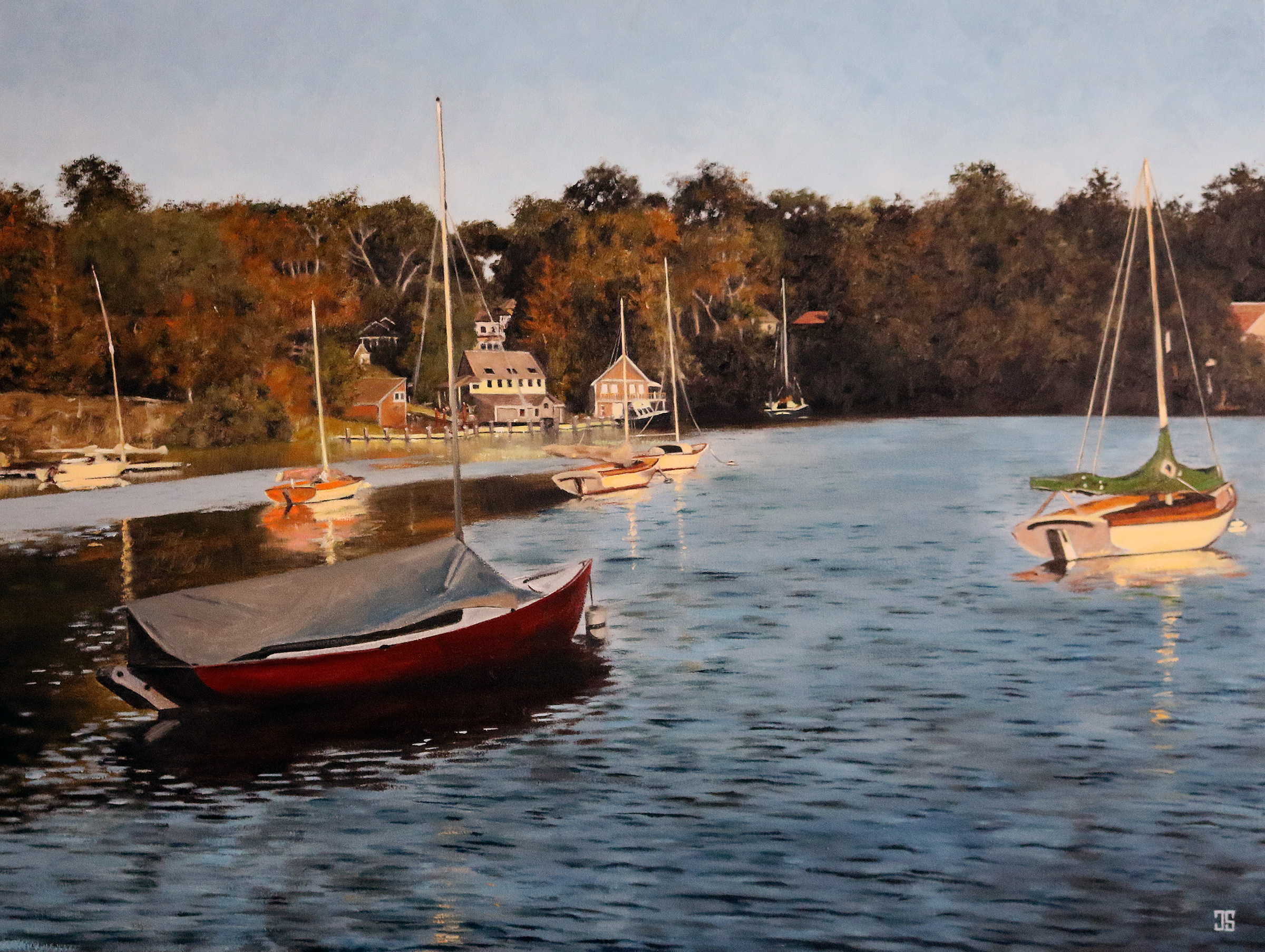Sailboats in Quissett Harbor, Cape Cod by Jeffrey Dale Starr
