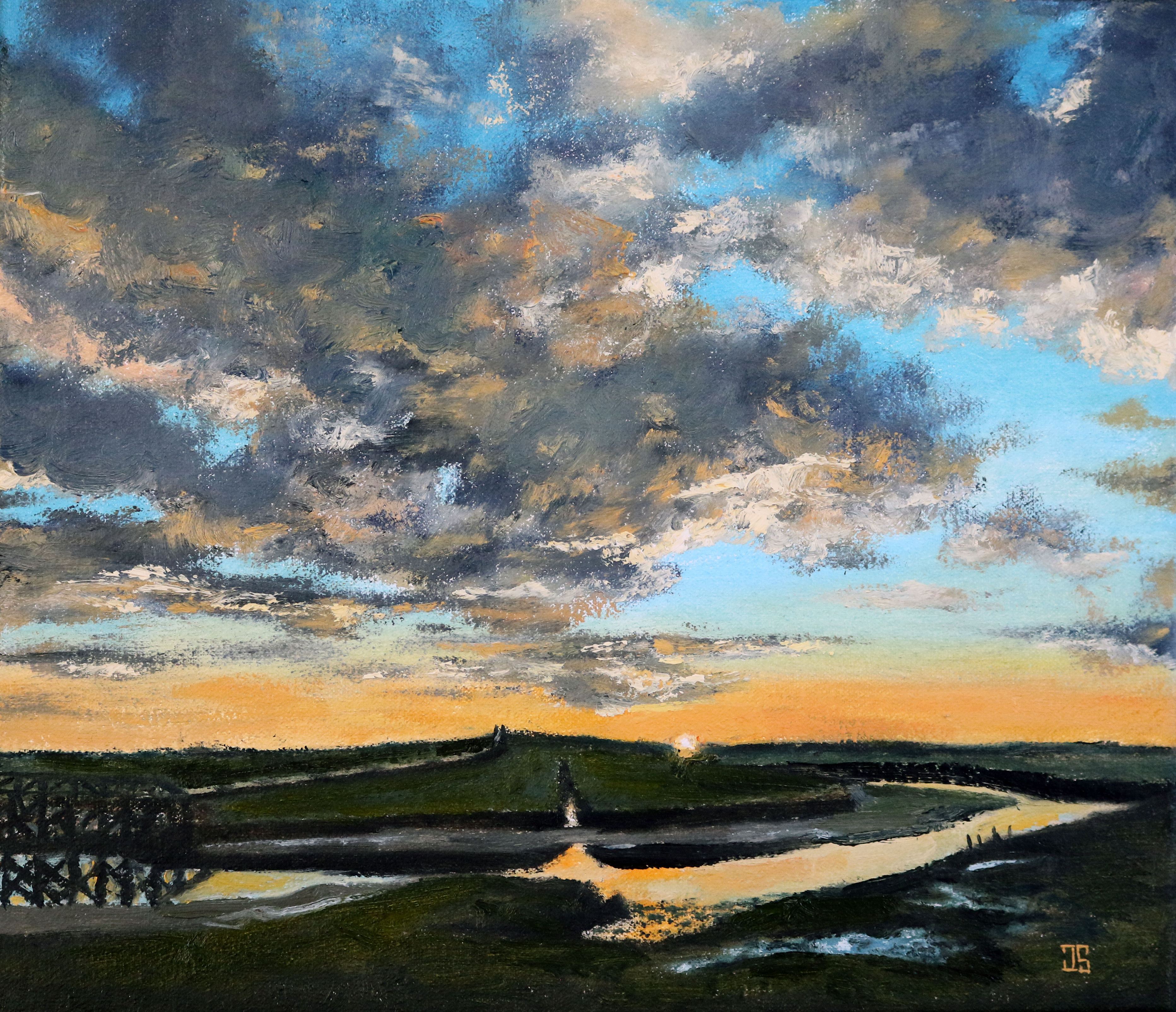 "Oil painting ""Sunrise on the Marsh"" by Jeffrey Dale Starr"