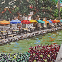Oil Painting of Casa Rio San Antonio by Jeffrey Dale Starr