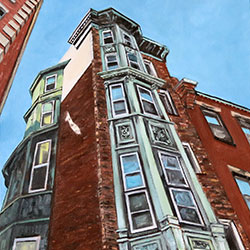 Oil Painting of 230 Hanover Street North End Boston Little Italy by Jeffrey Dale Starr