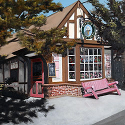 Oil painting of Buffys Ice Cream Chatham Cape Cod by Jeffrey Dale Starr