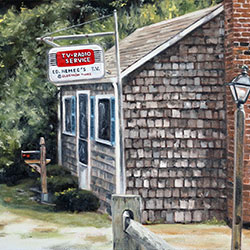 Oil Painting of Ed Nemecs TV Barnstable Cape Cod MA by Jeffrey Dale Starr