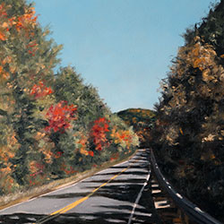 Oil Painting of Kancamagus Highway New Hampshire by Jeffrey Dale Starr