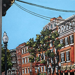 Oil Painting of Little Italy Boston North End by Jeffrey Dale Starr