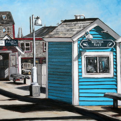 Oil Painting of MacMillan Pier Provincetown Cape Cod MA by Jeffrey Dale Starr