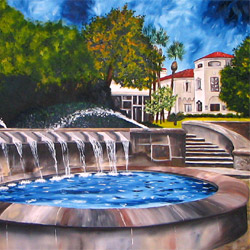 Oil Painting of McNay Art Museum San Antonio by Jeffrey Dale Starr