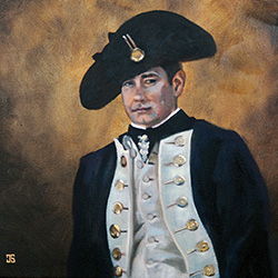 Oil Painting of The Gentleman The Colonists by Jeffrey Dale Starr