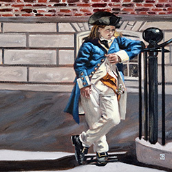Oil painting of Boy Soldier The Colonists by Jeffrey Dale Starr