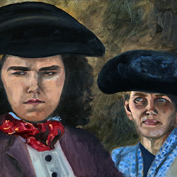 Oil painting of The Rogue from The Colonists by Jeffrey Dale Starr