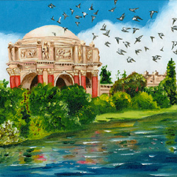 Oil Painting of Palace Of Fine Arts by Jeffrey Dale Starr
