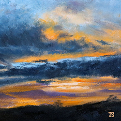 Oil Painting of Texas Summer Sky by Jeffrey Dale Starr