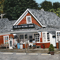 Oil Painting of the Old Village Store West Barnstable Cape Cod MA by Jeffrey Dale Starr
