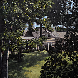 Oil Painting of Pogorelc Residence on Cape Cod MA by Jeffrey Dale Starr