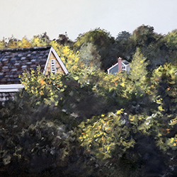 Oil painting of Cape Cod Neighbors by Jeffrey Dale Starr