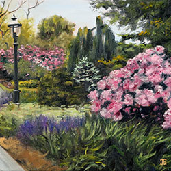 Oil painting of scenic park on Cape Cod by American artist Jeffrey Dale Starr