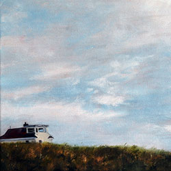 Oil painting of Race Point in May Provincetown Cape Cod MA by Jeffrey Dale Starr